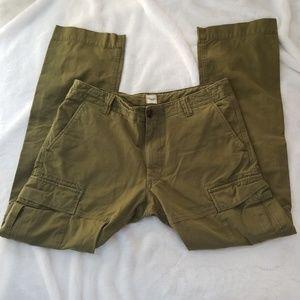 NWOT Lands' End Men's Cargo Pants, 34 X 32, Green